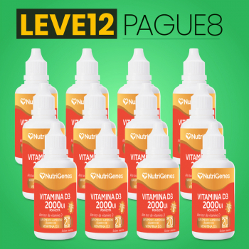 Vitamina D3 gotas 2000UI 20 ml | Nutrigenes - Leve 12, Pague 8