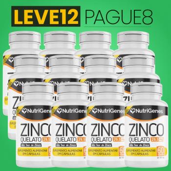 Zinco Quelato 60 cápsulas | Nutrigenes - Leve 12, Pague 8