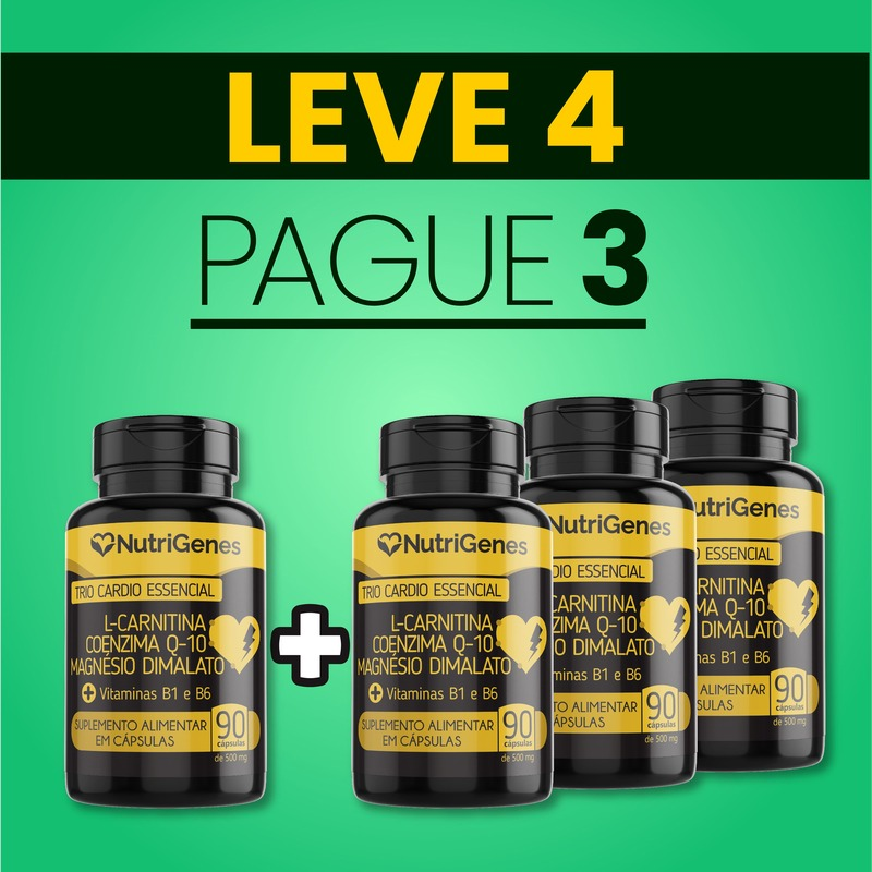 Trio Cardio Essencial 90 cápsulas | Nutrigenes - Leve 4, Pague 3