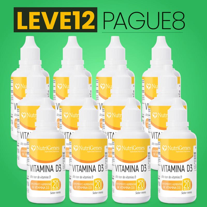 Vitamina D3 gotas 500UI 20 ml   Nutrigenes - Leve 12, Pague 8