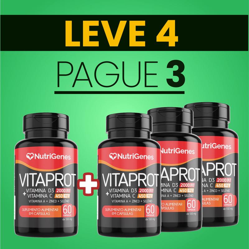 Vitaprot 60 cápsulas | Nutrigenes - Leve 4, Pague 3